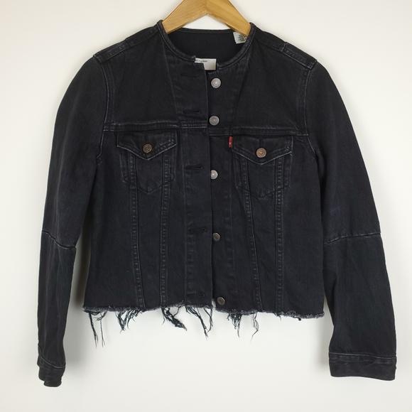 Levi's Altered Trucker Black Denim Jacket size XS